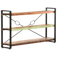 "vidaXL 3-Tier Bookcase 55.1""x11.8""x31.5"" Solid Reclaimed Wood"