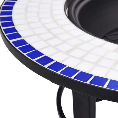 "vidaXL Mosaic Fire Pit Blue and White 26.8"" Ceramic"
