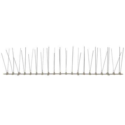 vidaXL 4-row Plastic Bird & Pigeon Spikes Set of 6 10'