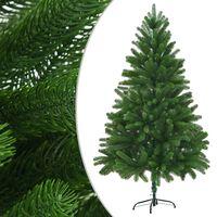 "vidaXL Faux Christmas Tree 82.7"" Lifelike Needles Green"