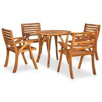 vidaXL 5 Piece Garden Dining Set Solid Acacia Wood