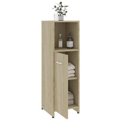 "vidaXL Bathroom Cabinet Sonoma Oak 11.8""x11.8""x37.4"" Chipboard"