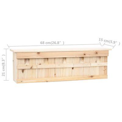 "vidaXL Sparrow House with 5 Rooms 26.8""x5.9""x8.3"" Firwood"