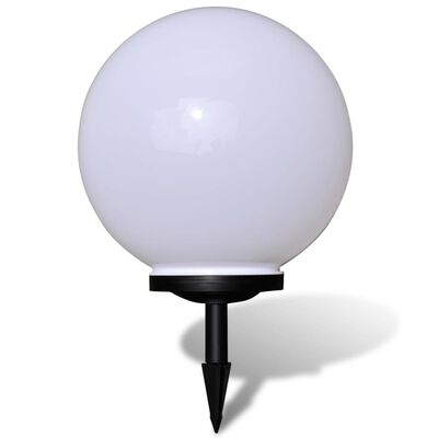 "vidaXL Outdoor Path Garden Solar Lamp Solar Ball Light LED 15.7"" 1pcs with Ground Spike"