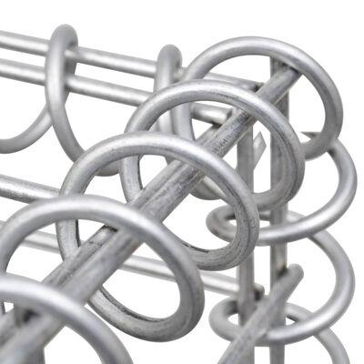 "vidaXL Gabion Raised Bed Steel 71""x35.4""x39.4"" Silver"