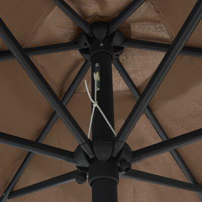 "vidaXL Outdoor Parasol with Aluminum Pole 106.3""x96.9"" Taupe"