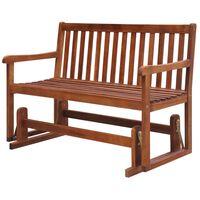 "vidaXL Garden Swing Bench 49.2"" Solid Acacia Wood"