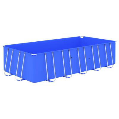 "vidaXL Swimming Pool with Steel Frame 212.6""x106.3""x48"" Blue"