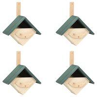 "vidaXL Bird Houses 4 pcs 9.4""x6.3""x11.8"" Firwood"