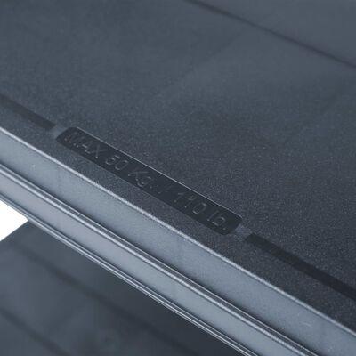 "vidaXL Storage Shelf Rack Black 551.2 lb 31.5""x15.7""x70.9"" Plastic"