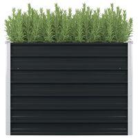 """vidaXL Raised Garden Bed Anthracite 39.4""""x39.4""""x30.3"""" Galvanized Steel"""