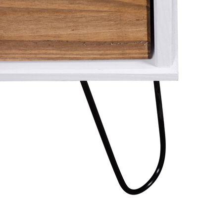 "vidaXL Book Cabinet ""New York Range"" White and Light Wood Solid Pine Wood"
