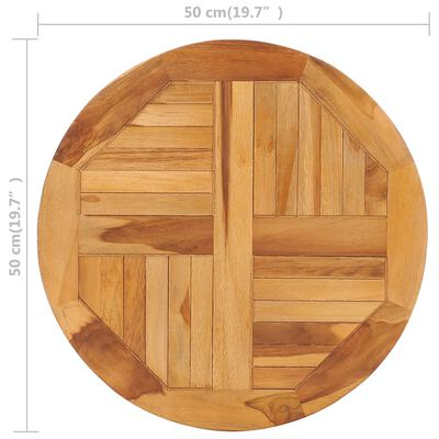 vidaXL Rotating Table Disk Solid Teak Wood
