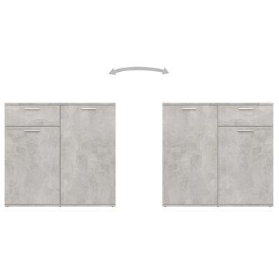 "vidaXL Sideboard Concrete Gray 31.5""x14.2""x29.5"" Chipboard"