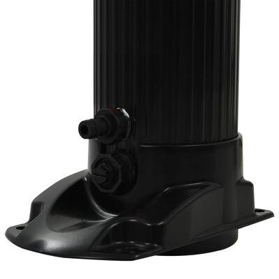 "vidaXL Foldable Solar Shower Black 84.3"" 6.1 gal"