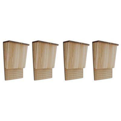 "vidaXL Bat Houses 4 pcs 8.7""x4.7""x13.4"" Wood"