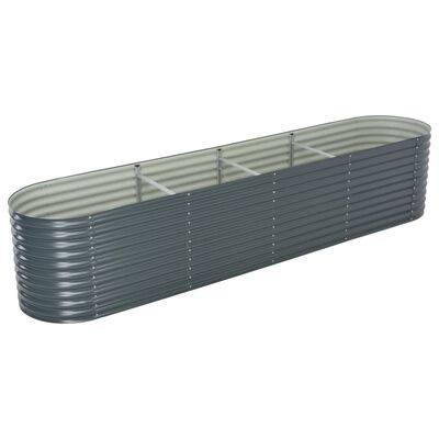 "vidaXL Garden Raised Bed 157.4""x31.4""x31.8"" galvanized Steel Gray"