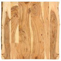 """vidaXL Table Top Solid Acacia Wood 23.6""""x(19.7""""-23.6"""")x1"""""""