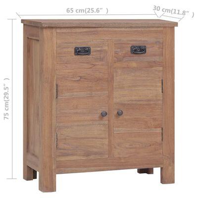 """vidaXL Sideboard 25.6""""x11.8""""x29.5"""" Solid Teak Wood"""