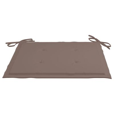 "vidaXL Garden Chair Cushions 2 pcs Taupe 15.7""x15.7""x1.6"" Fabric"