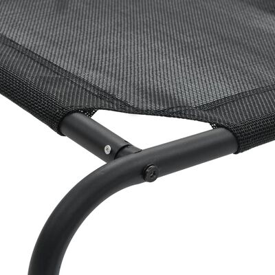 vidaXL Elevated Dog Bed Black S Textilene