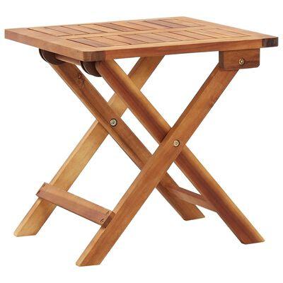 """vidaXL Folding Garden Coffee Table 15.7""""x15.7""""x15.7"""" Solid Acacia Wood"""