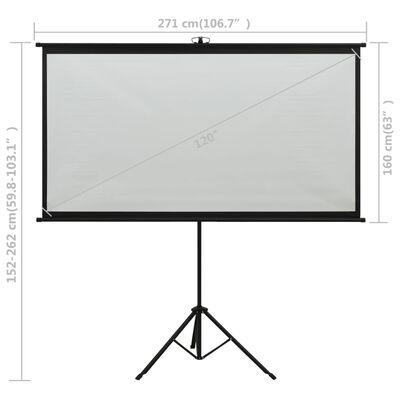 "vidaXL Projection Screen with Tripod 120"" 16:9"