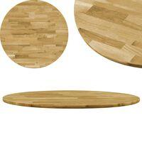 """vidaXL Table Top Solid Oak Wood Round 0.9"""" 19.7"""""""