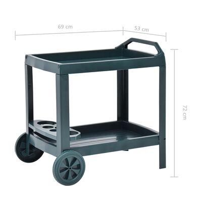 "vidaXL Beverage Cart Green 27.2""x20.9""x28.3"" Plastic"