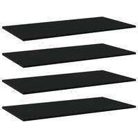 """vidaXL Bookshelf Boards 4 pcs Black 31.5""""x7.9""""x0.6"""" Chipboard"""