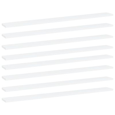 "vidaXL Bookshelf Boards 8 pcs White 39.4""x3.9""x0.6"" Chipboard"