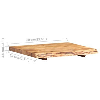 """vidaXL Bathroom Vanity Top Solid Acacia Wood 23.6""""x21.7""""x1.5"""""""