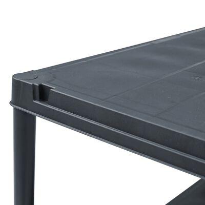 "vidaXL Storage Shelf Rack Black 275.6 lb 23.6""x11.8""x70.9"" Plastic"
