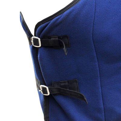 "vidaXL Fleece Rug with Surcingles 61"" Blue"