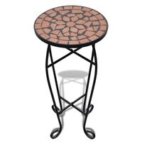 vidaXL Mosaic Side Table Plant Table Terracotta