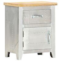 "vidaXL Aviator Bedside Cabinet 15.7""x11.8""x19.7"" Solid Mango Wood"