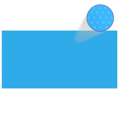 "vidaXL Pool Cover Blue 383.9""x192.1"" PE"