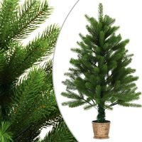 "vidaXL Artificial Christmas Tree Lifelike Needles 35.4"" Green"