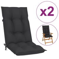 "vidaXL Garden Chair Cushions 2 pcs Anthracite 47.2""x19.7""x2.8"""