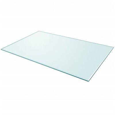 """vidaXL Table Top Tempered Glass Rectangular 39.4""""x24.4"""""""