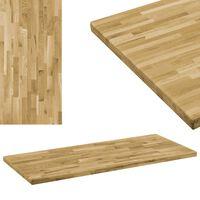 "vidaXL Table Top Solid Oak Wood Rectangular 1.7"" 55.1""x23.6"""