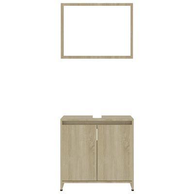 vidaXL Bathroom Furniture Set Sonoma Oak Chipboard