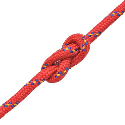 "vidaXL Marine Rope Polypropylene 0.24"" 3937"" Red"