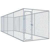 "vidaXL Outdoor Dog Kennel 299""x75.6""x72.8"""