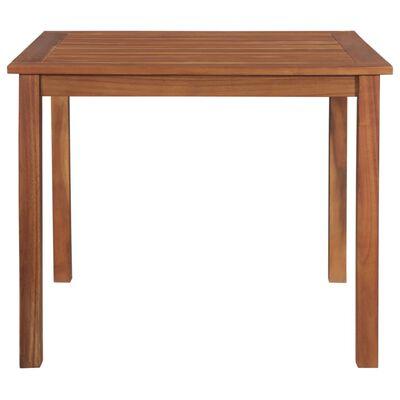 """vidaXL Garden Table 33.5""""x33.5""""x29.1"""" Solid Acacia Wood"""