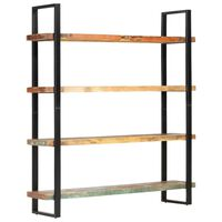 "vidaXL 4-Tier Bookcase 63""x15.7""x70.9"" Solid Reclaimed Wood"