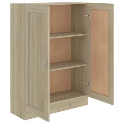 "vidaXL Book Cabinet Sonoma Oak 32.5""x12""x45.3"" Chipboard"