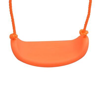 vidaXL Swing Set with Slide and 3 Seats Orange