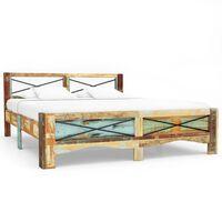 "vidaXL Bed Frame Solid Reclaimed Wood 63""x78.7"""