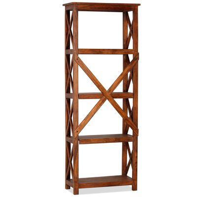 "vidaXL Bookshelf Solid Acacia Wood Sheesham Finish 23.6""x11.8""x63.0"""